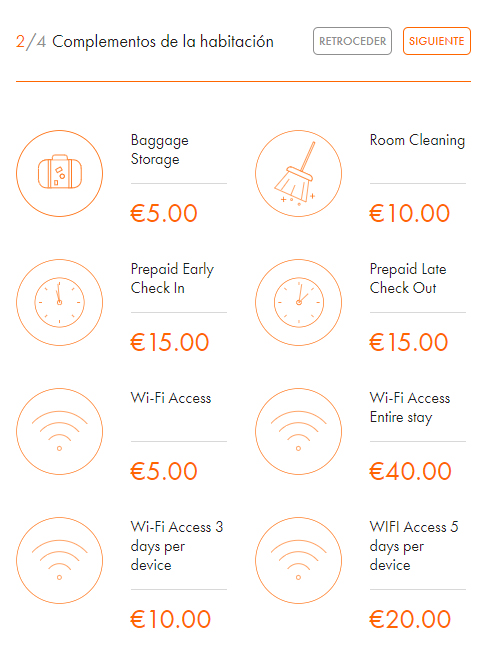 easyhotel extras