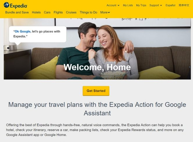 expedia google assistant
