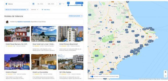 nuevo diseno hoteles google