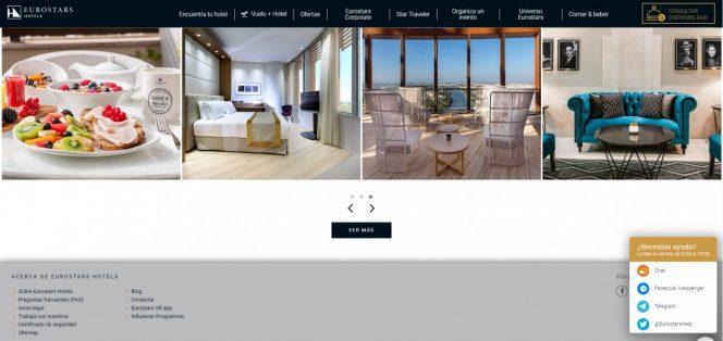 eurostars hoteles web